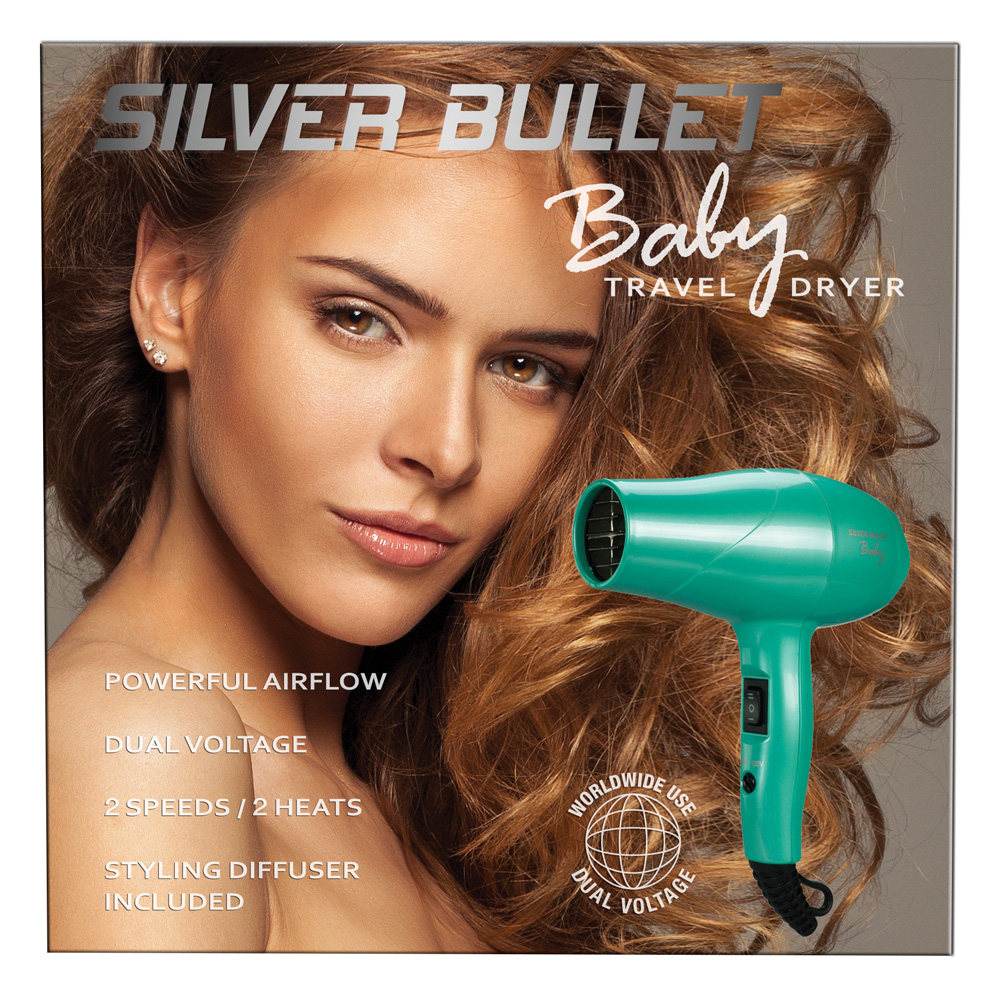 Silver Bullet Baby Travel Hair Dryer Box