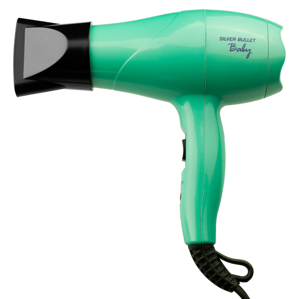 Silver Bullet Baby Travel Hair Dryer in Aqua