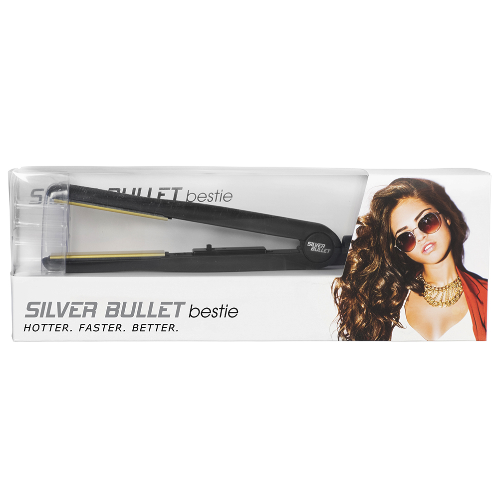 Silver Bullet Bestie Hair Straightener Packaging