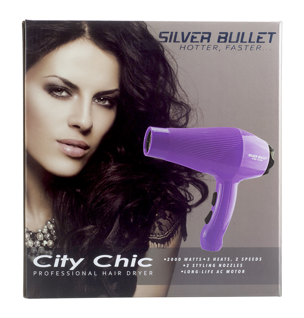 Silver Bullet City Chic Hair Dryer packaging