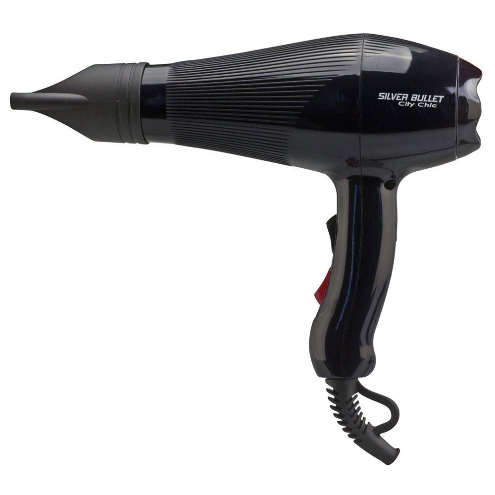 Silver Bullet City Chic Hair Dryer in black