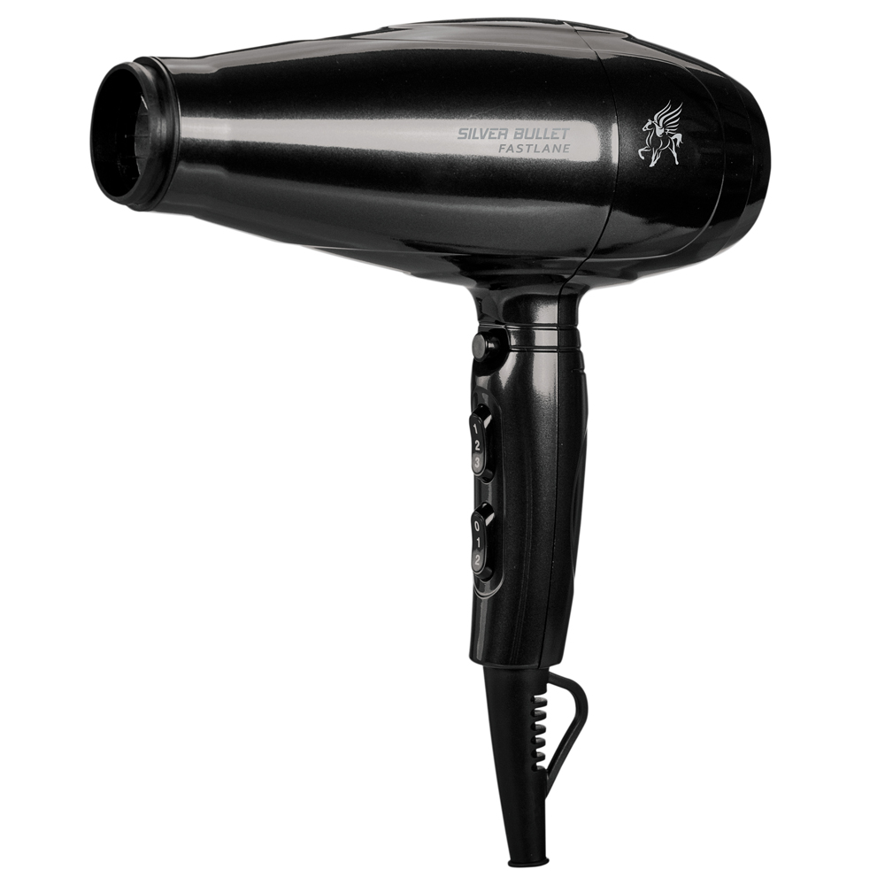 Silver Bullet Fastlane Hair Dryer in black