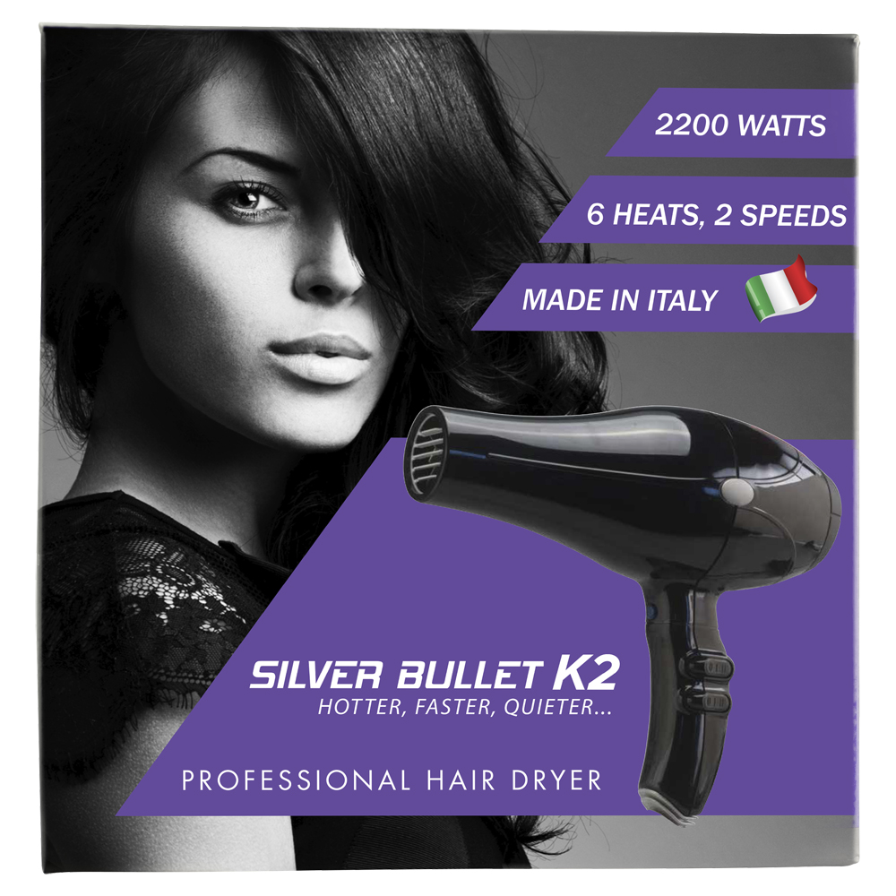 Silver Bullet K2 Hair Dryer Packaging