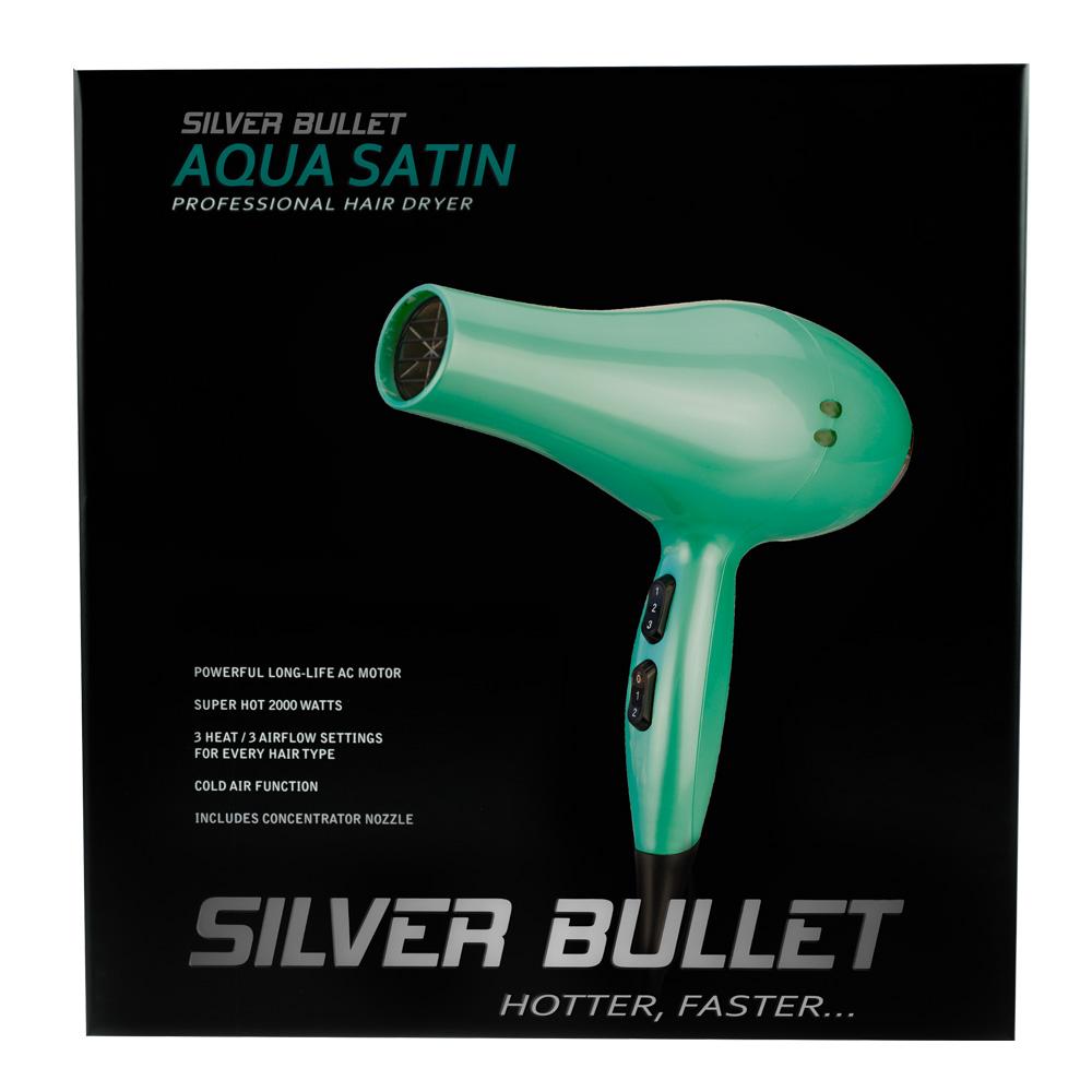 Silver Bullet Satin Hair Dryer Packaging