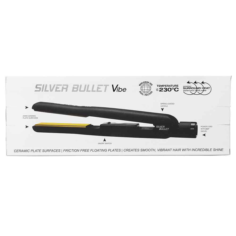 Silver Bullet Vibe Hair Straightener Features