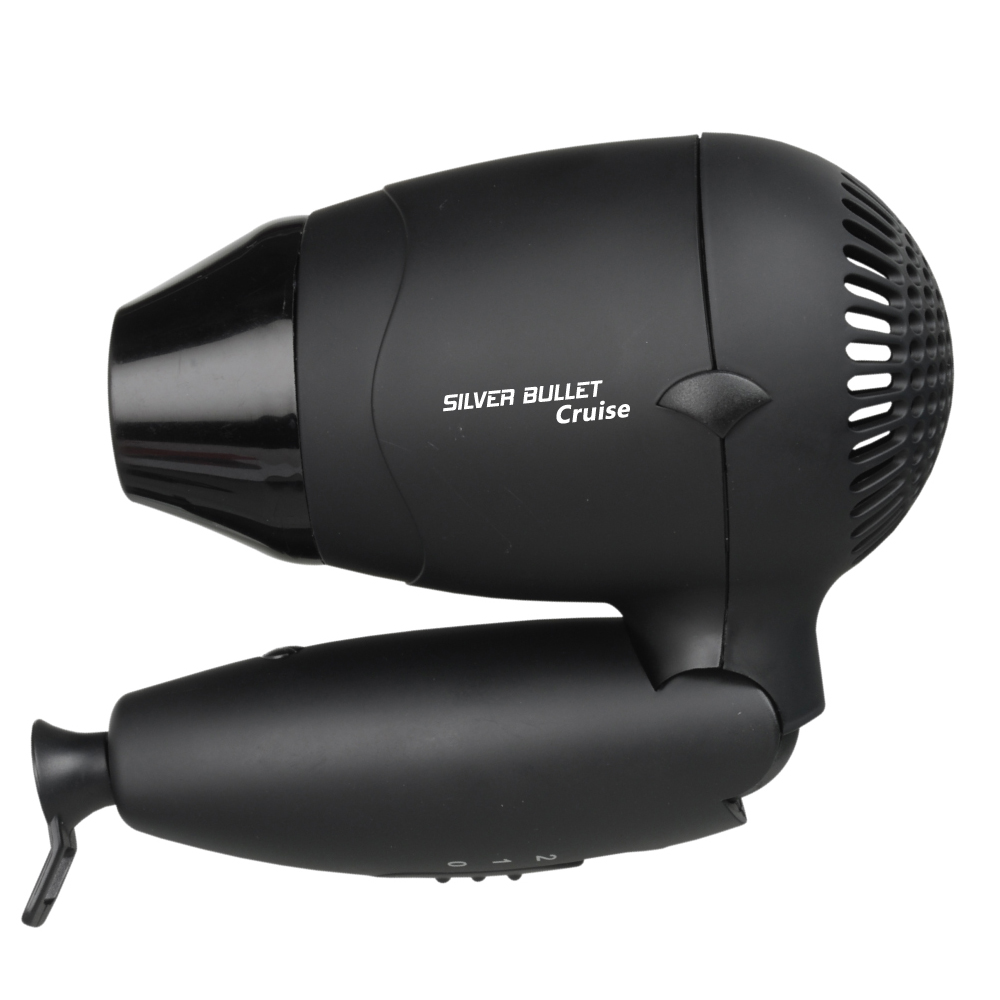 Silver Bullet Worldwide Cruise Hair Dryer with folding handle