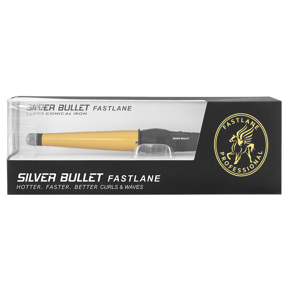 Silver Bullet Fastlane Ceramic Gold Large Conical Curling Iron