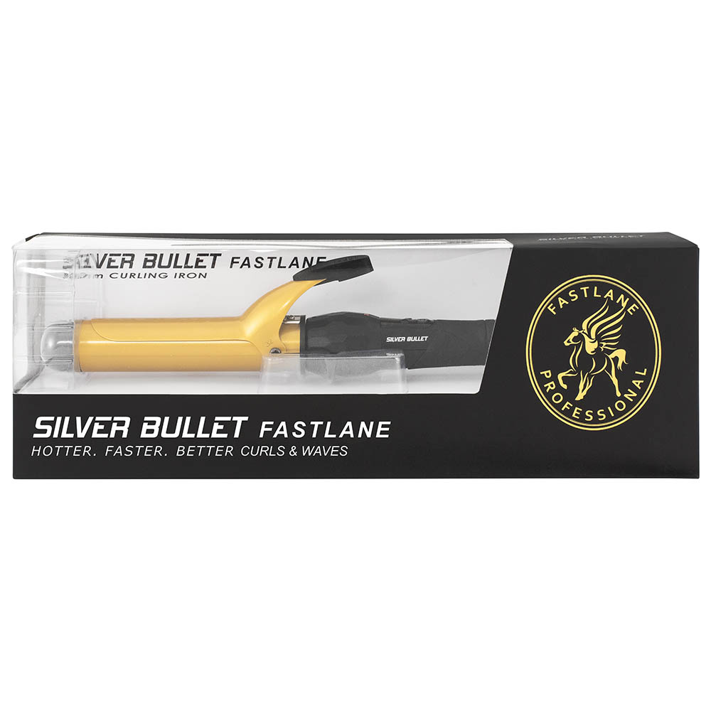 Silver Bullet Fastlane Ceramic Gold Curling Iron