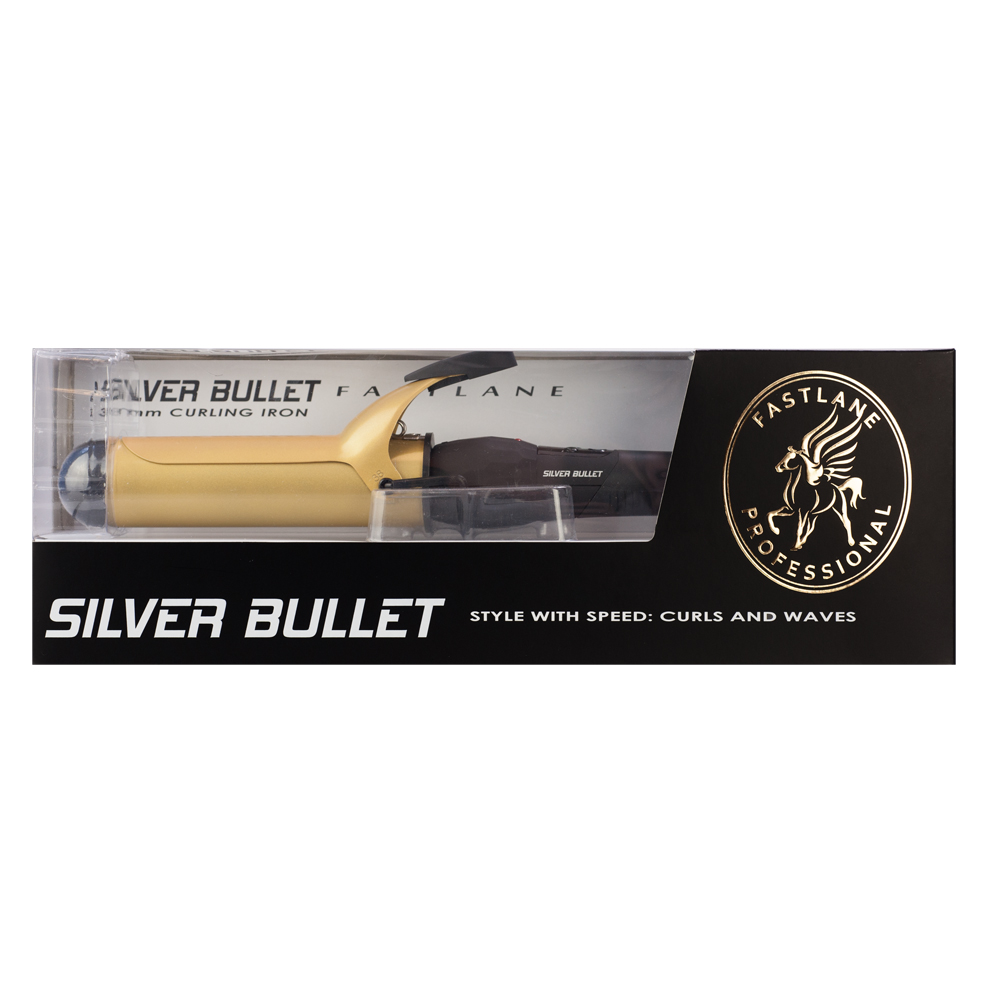 Silver Bullet Fastlane Ceramic Gold Curling Iron 38mm