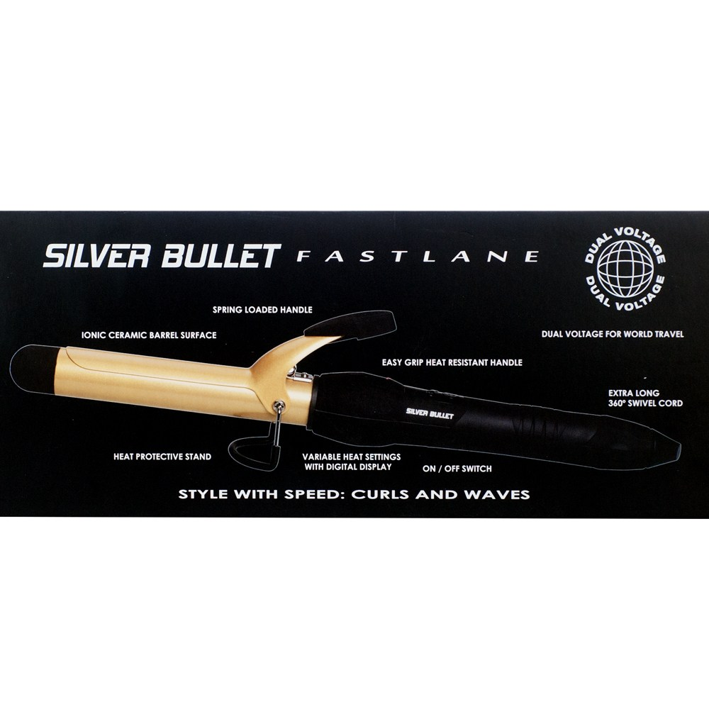 Silver Bullet Fastlane Ceramic Gold Curling Iron Features
