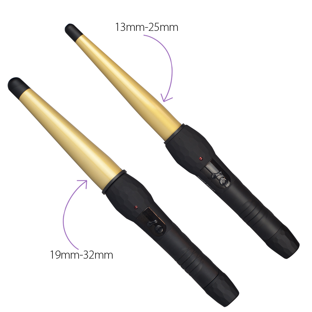 Silver Bullet Flastlane Ceramic Gold Conical Curling Iron
