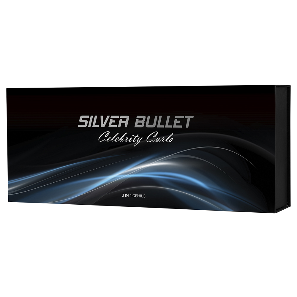 Silver Bullet Celebrity Curls 3 in 1 Genius Curling Iron Packaging