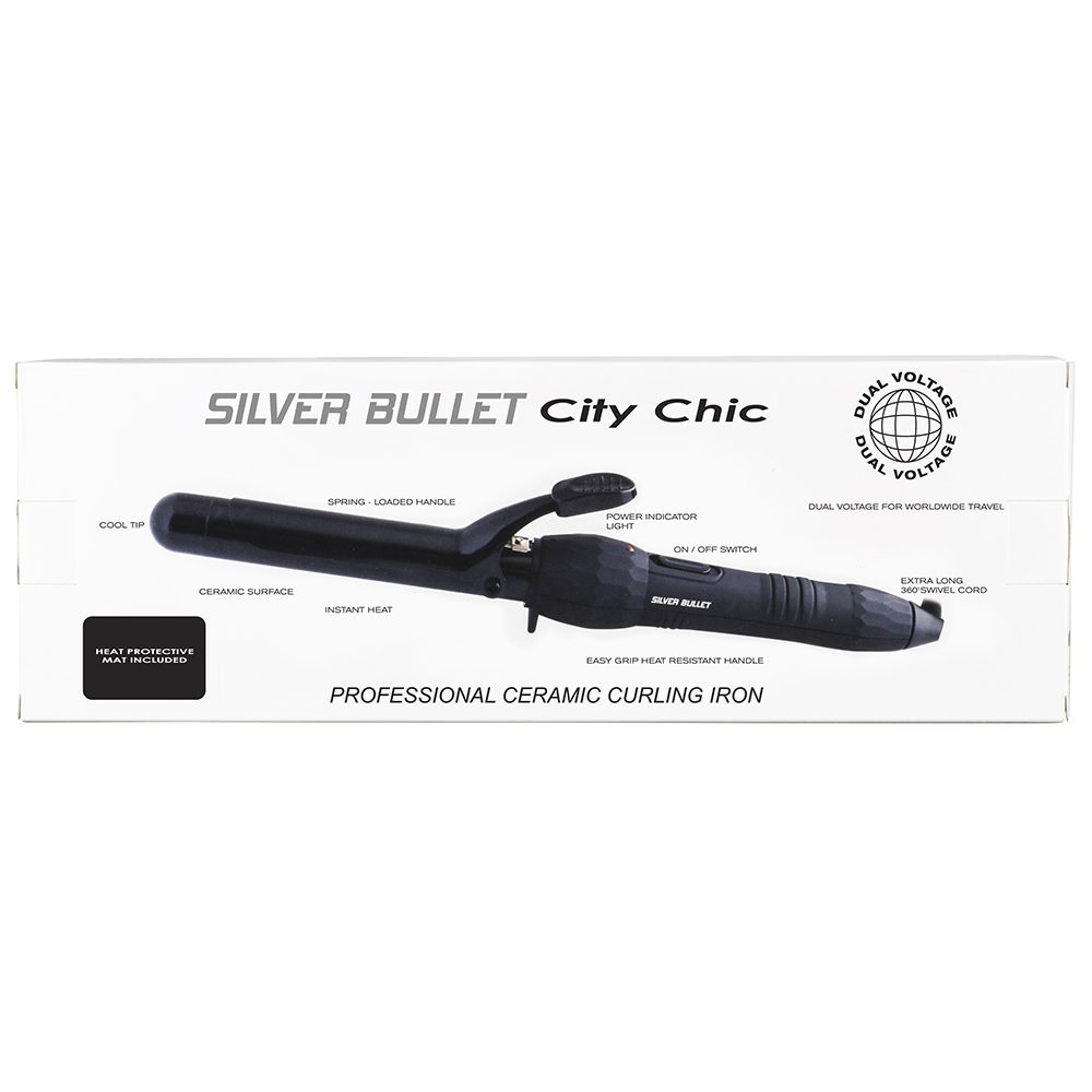 Silver Bullet City Chic Curling Iron Features