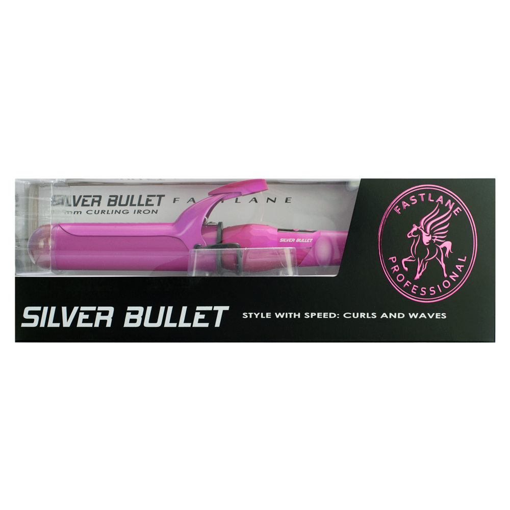 Silver Bullet Fastlane Ceramic Pink Curling Iron 38mm