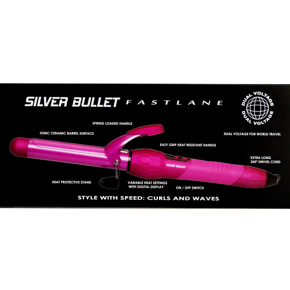 Silver Bullet Fastlane Ceramic Pink Curling Iron Features