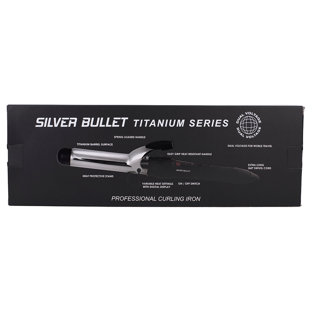 Silver Bullet Fastlane Titanium BLack Titanium Curling Iron Features