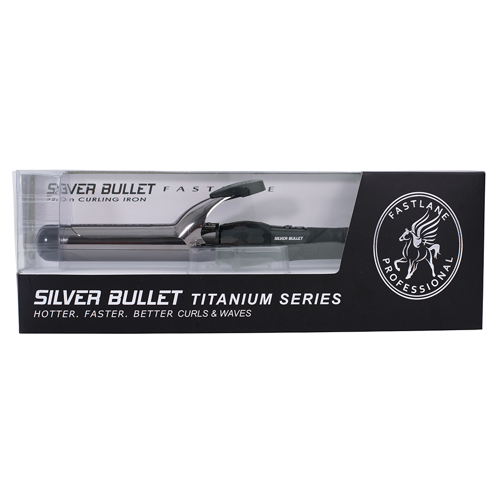 Silver Bullet Fastlane Titanium Black Titanium 38mm Curling Iron