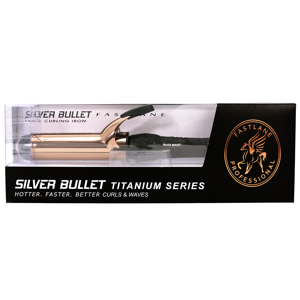 Silver Bullet Fastlane Titanium Rose Gold 38mm Curling Iron