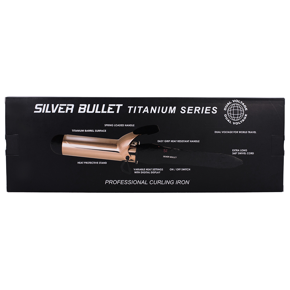 Silver Bullet Fastlane Titanium Rose Gold Curling Iron Features