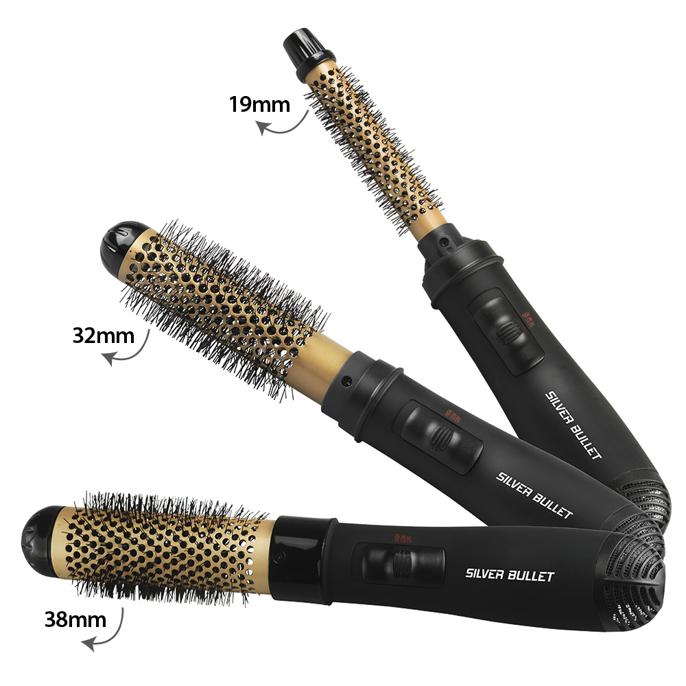 Silver Bullet Genesis Hot Air Brush in Three Sizes