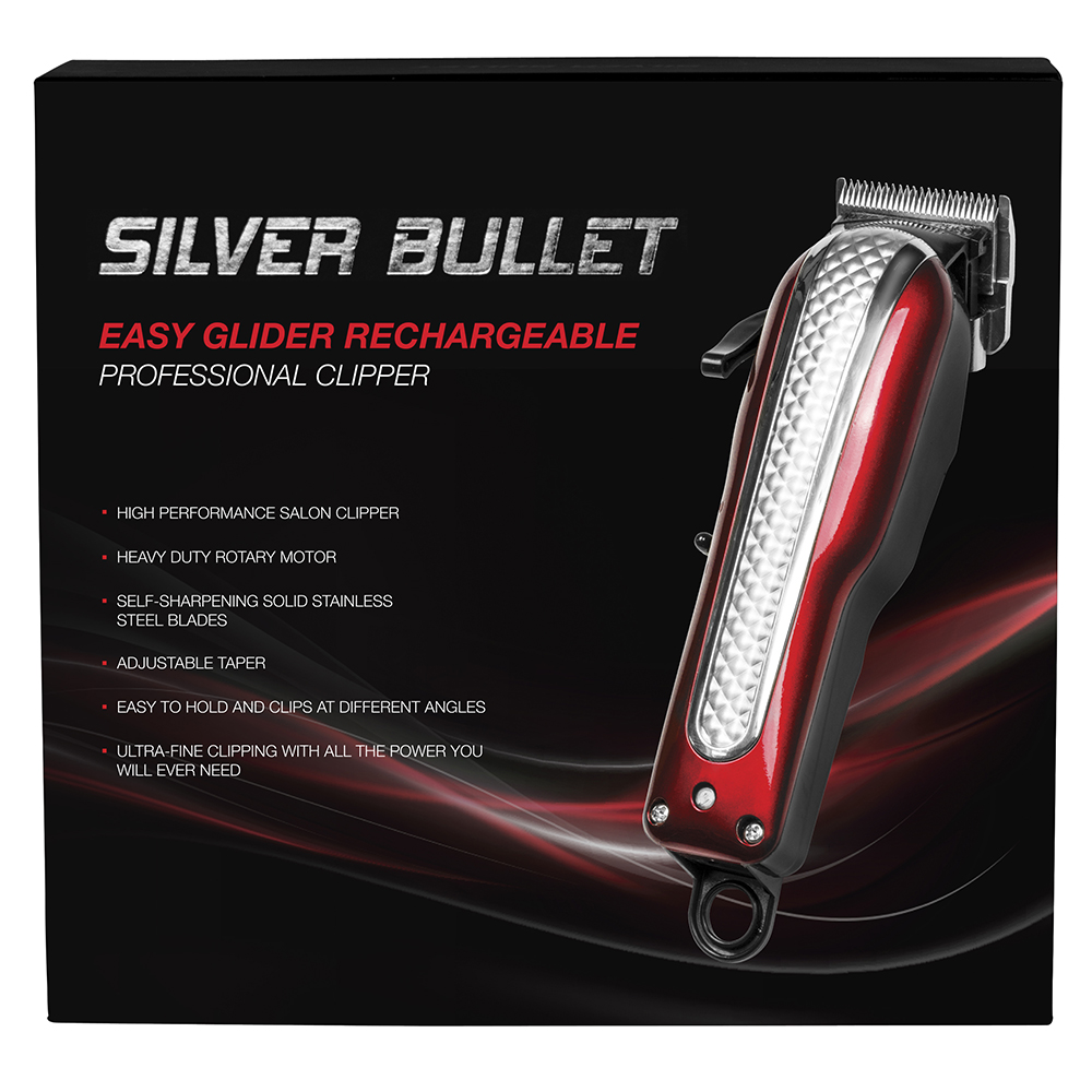 Silver Bullet Easy Gilder Cord Cordless Hair Clipper Packaging