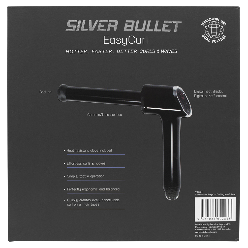 Silver Bullet EasyCurl Curling Iron Features