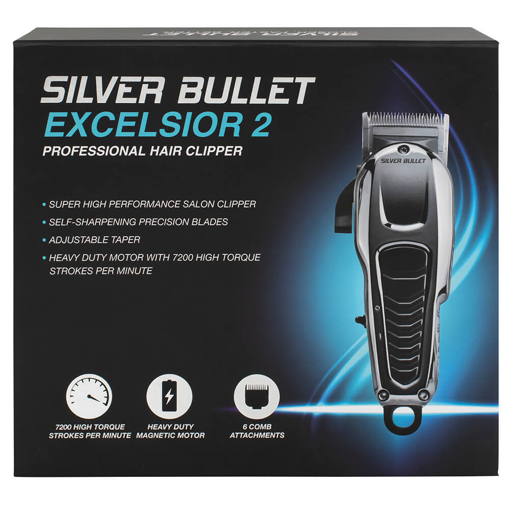 Silver Bullet Excelsior Hair Clipper Packaging
