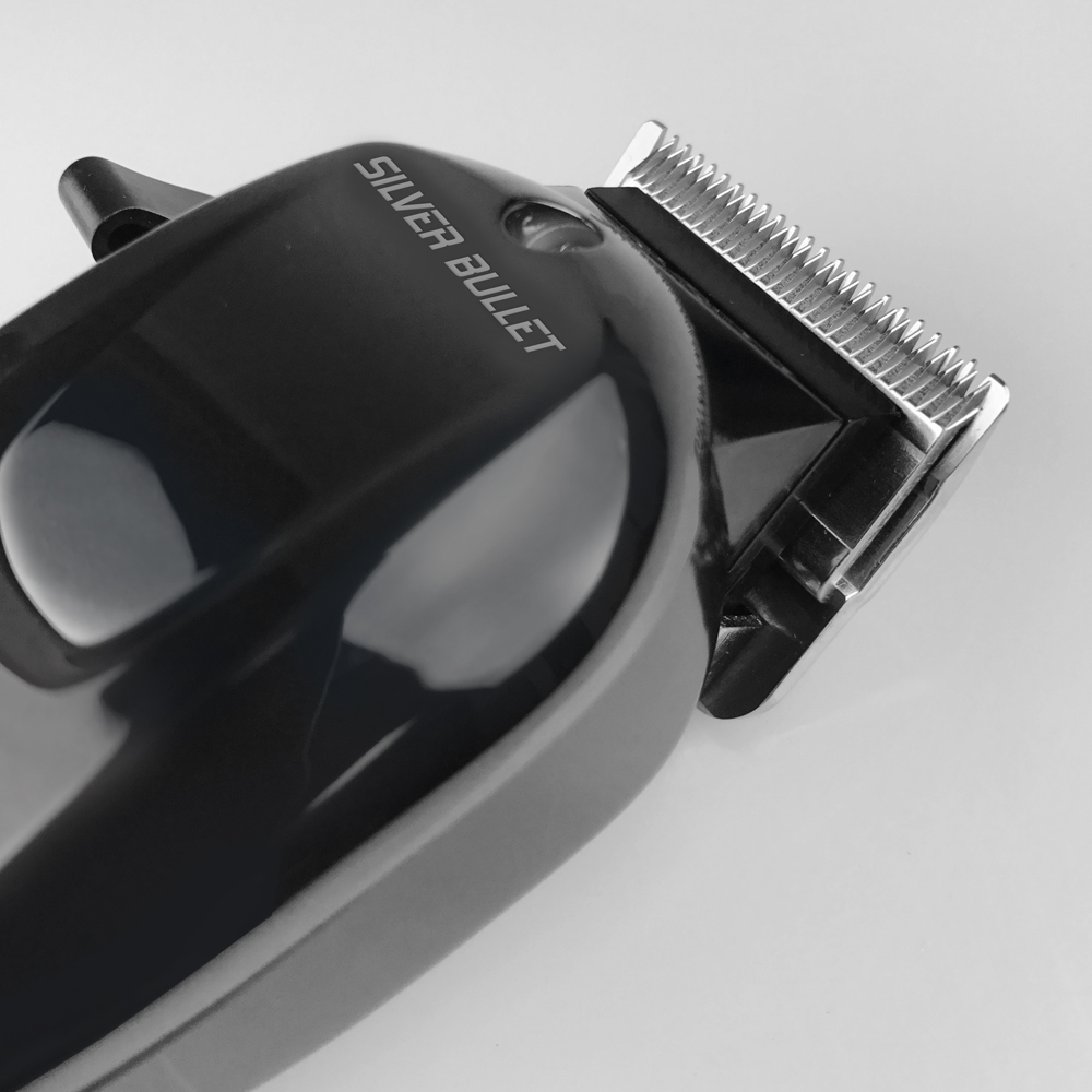 Silver Bullet Excelsior Hair Clipper Close Up of Cutting Head
