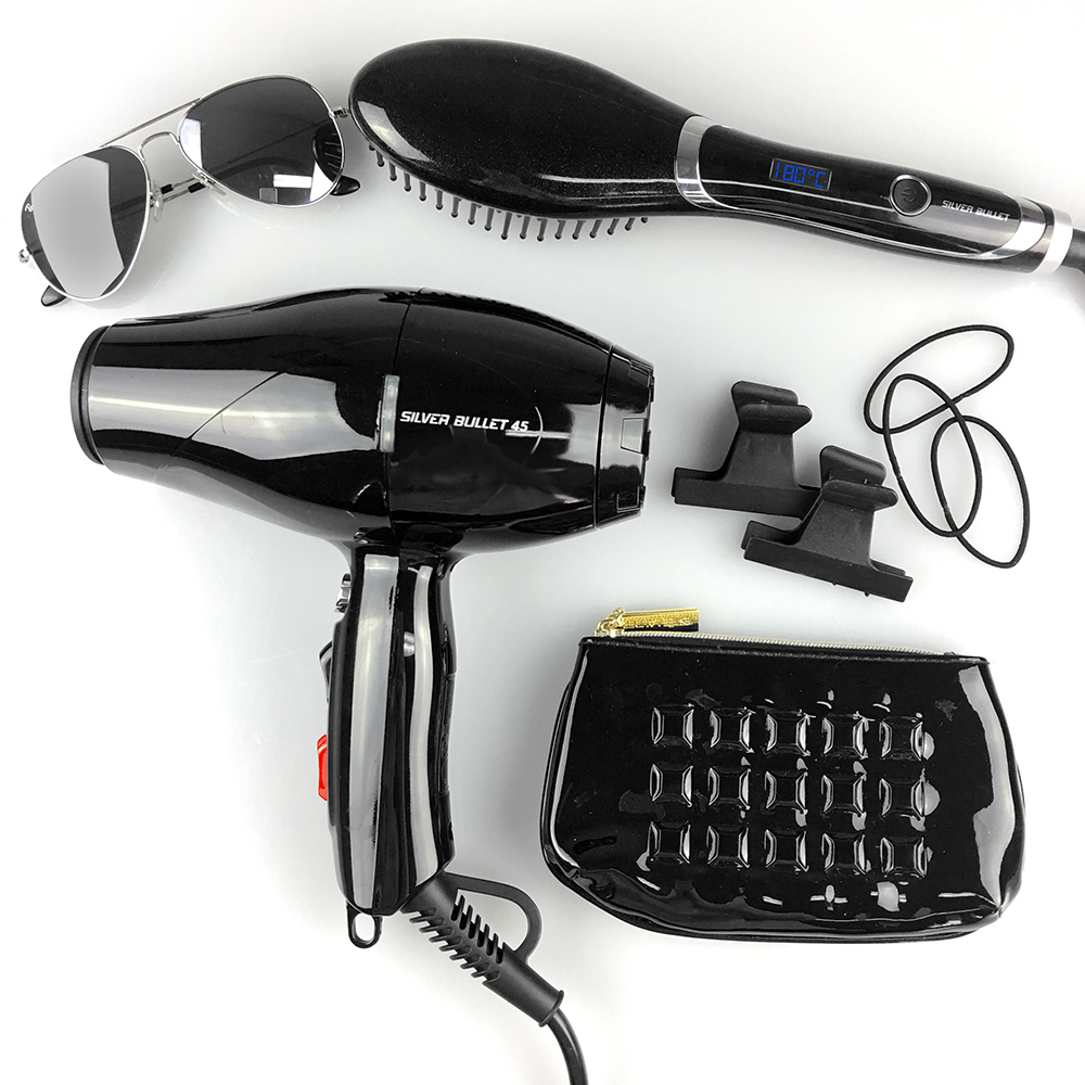 Silver Bullet Hybrid Straightening Brush and 45 Hairdryer