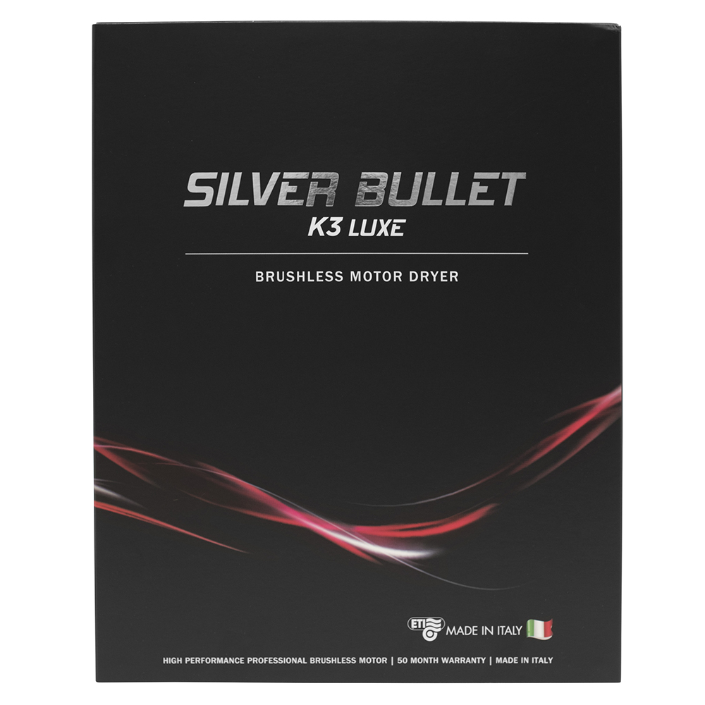 Silver Bullet K3 Luxe Brushless Motor Hair Dryer Packaging