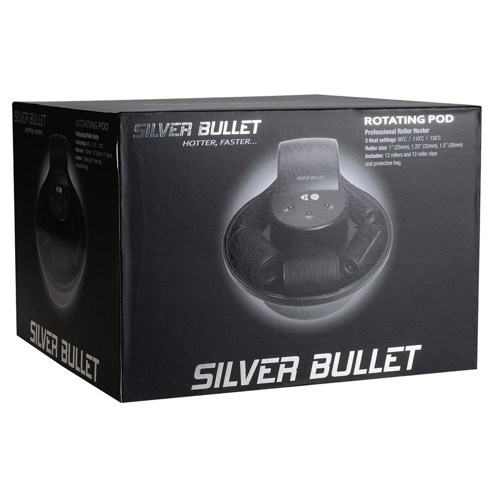 Silver Bullet Rotating Pod Hot Roller Set Packaging