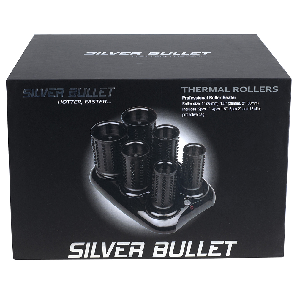 Silver Bullet Thermal Hot Roller Set Packaging