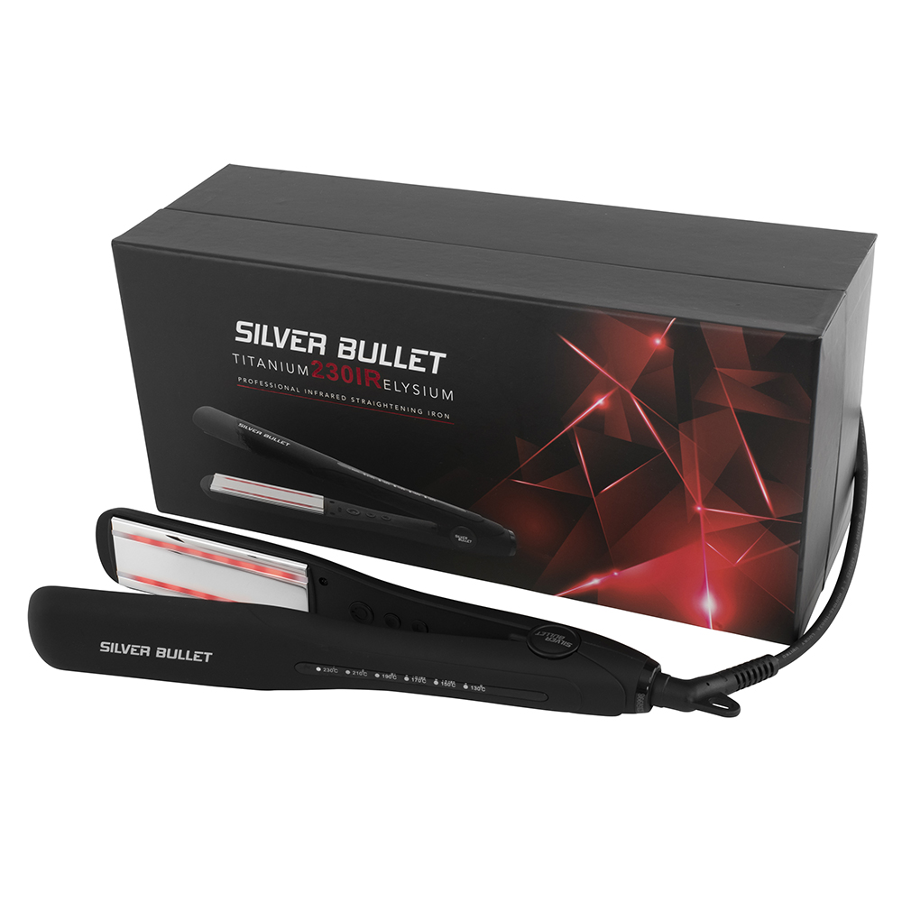 Silver Bullet Titanium 230 IR Elysium Infrared Hair Straightener Packaging