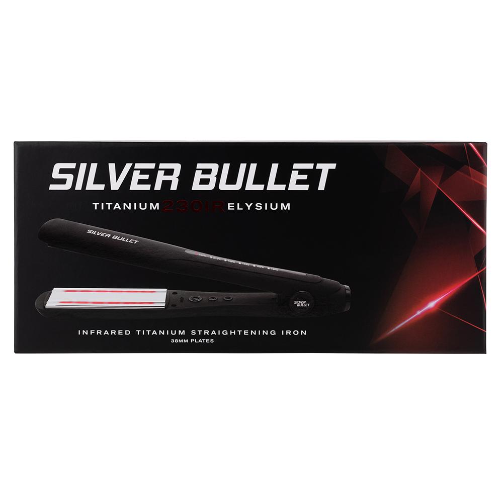 Silver Bullet Titanium 230 IR Elysium Infrared Hair Straightener Packaging