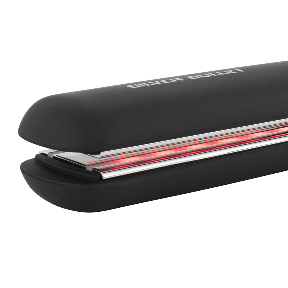Silver Bullet Titanium 230 IR Elysium Infrared Hair Straightener Close Up of Plates