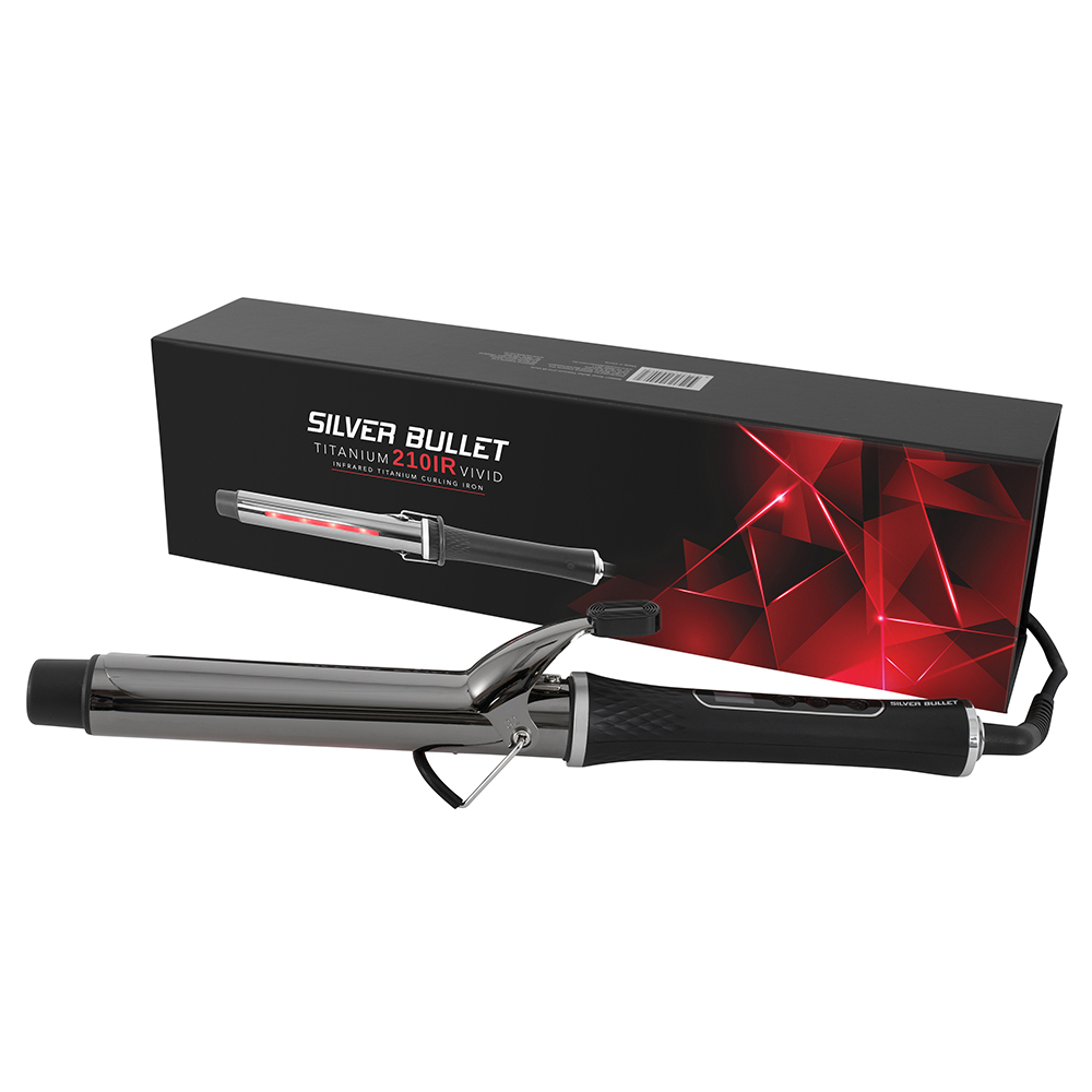 Silver Bullet Titanium 210IR Vivid Infrared Curling Iron Packaging