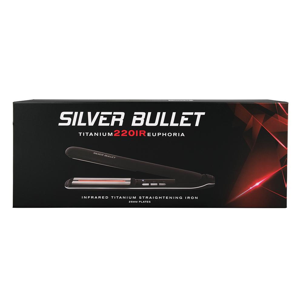 Silver Bullet Titanium 220 IR Euphoria Infrared Hair Straightener Packaging