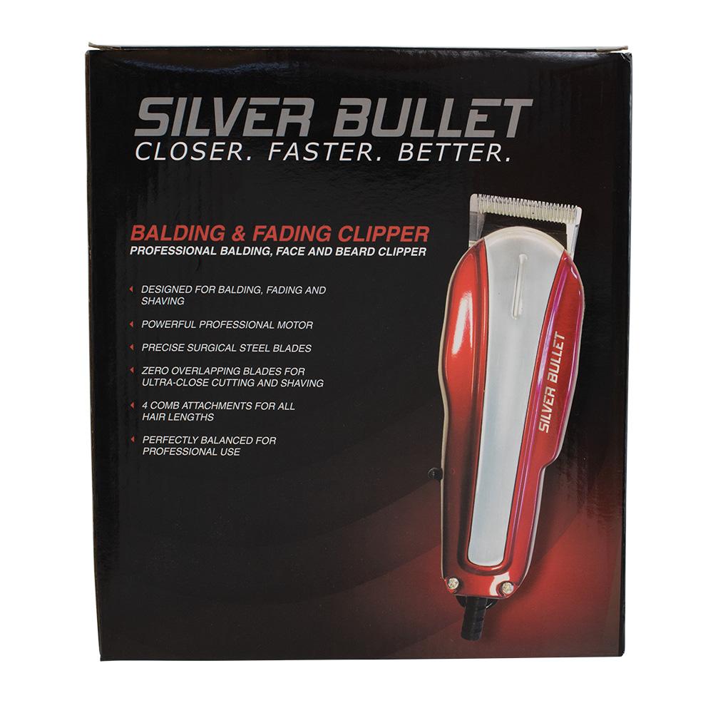 Silver Bullet Balding Fading Hair Clipper Packaging