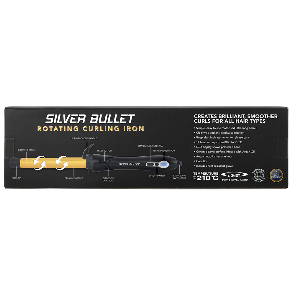 Silver Bullet Fastlane Rotating Curling Iron feature