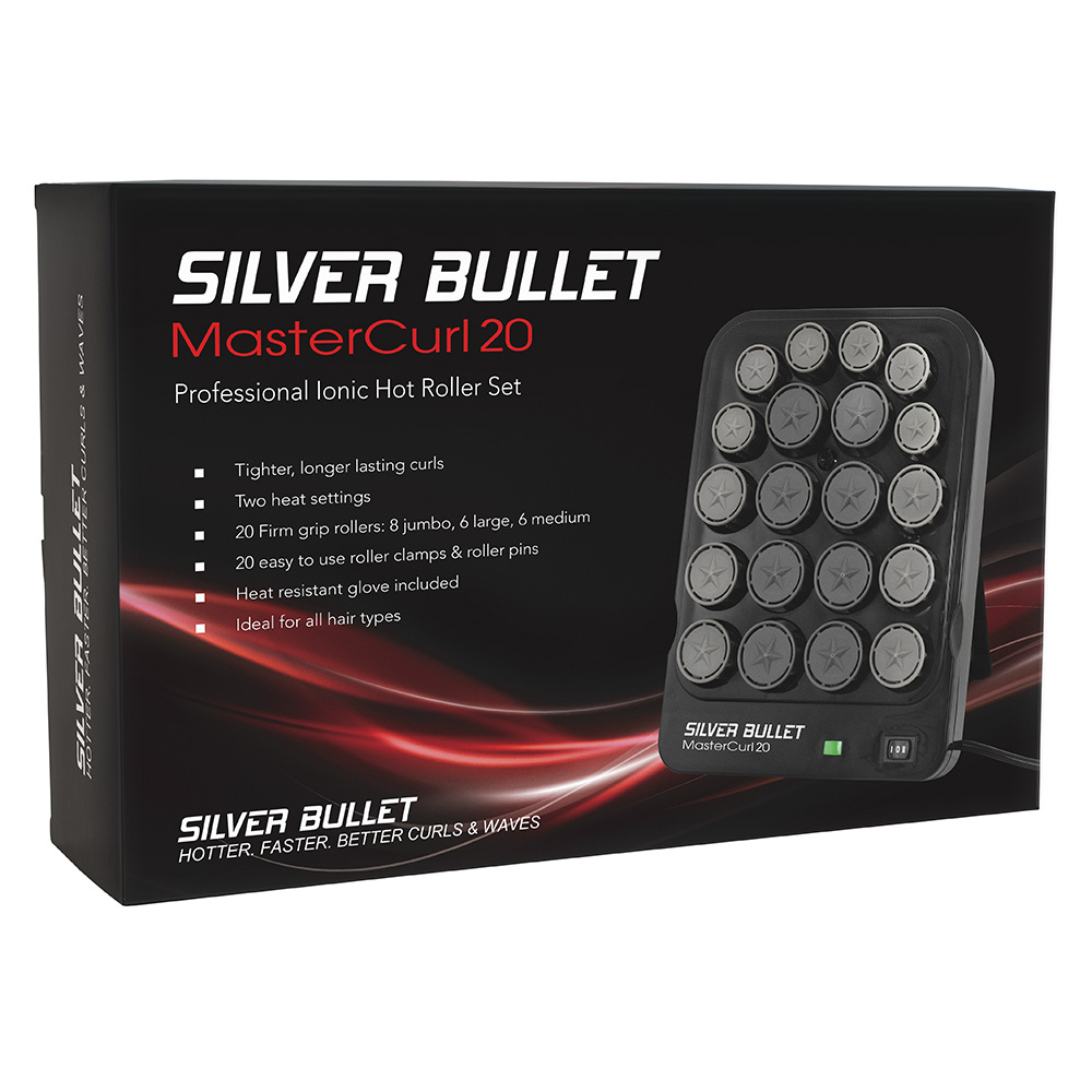 Silver Bullet MasterCurl 20 Ionic Hot Roller Set Packaging