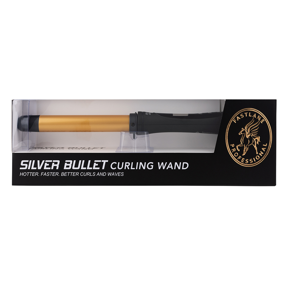 Silver Bullet Fastlane Curling Wand packaging