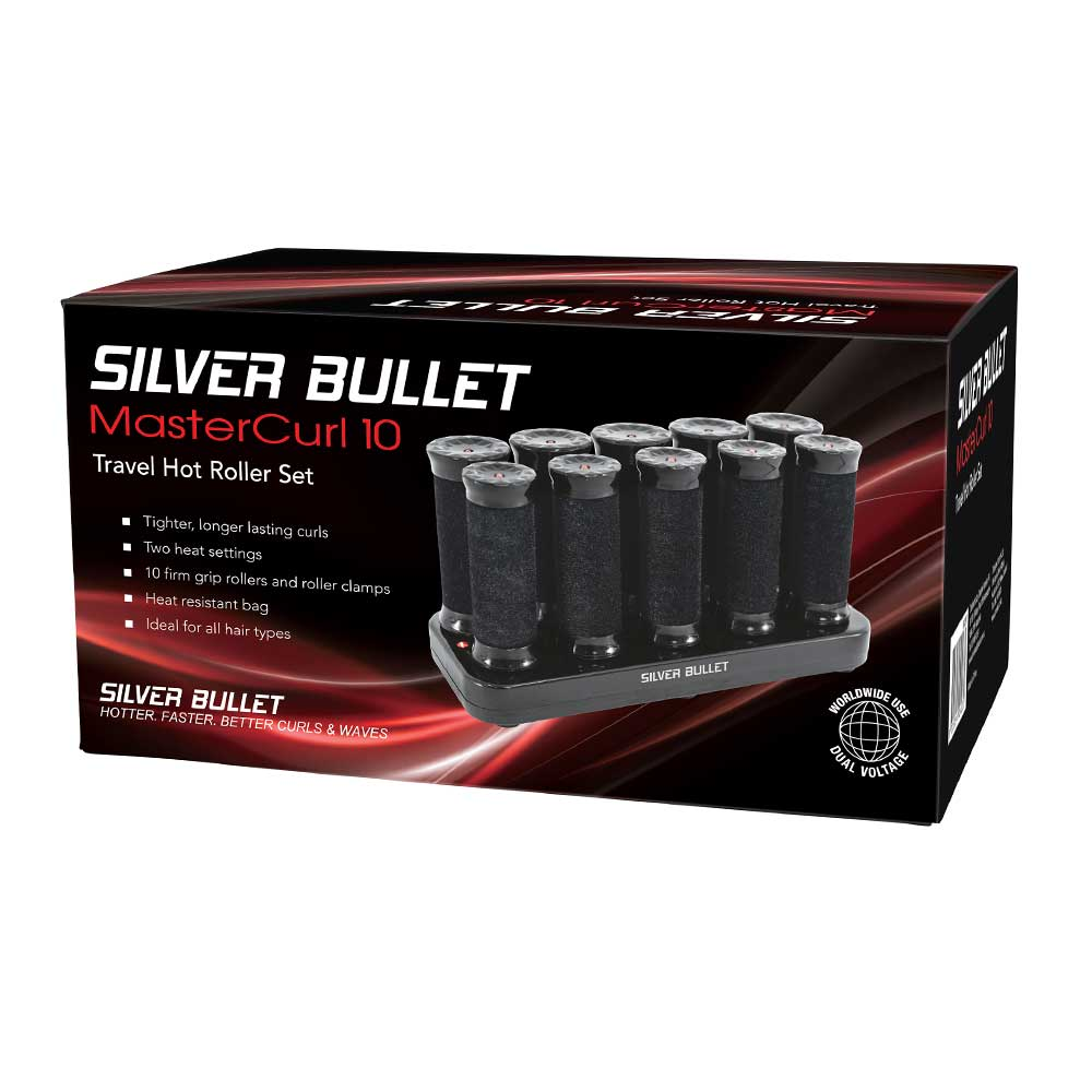 Silver Bullet MasterCurl 10 Travel Hot Roller Set Packaging