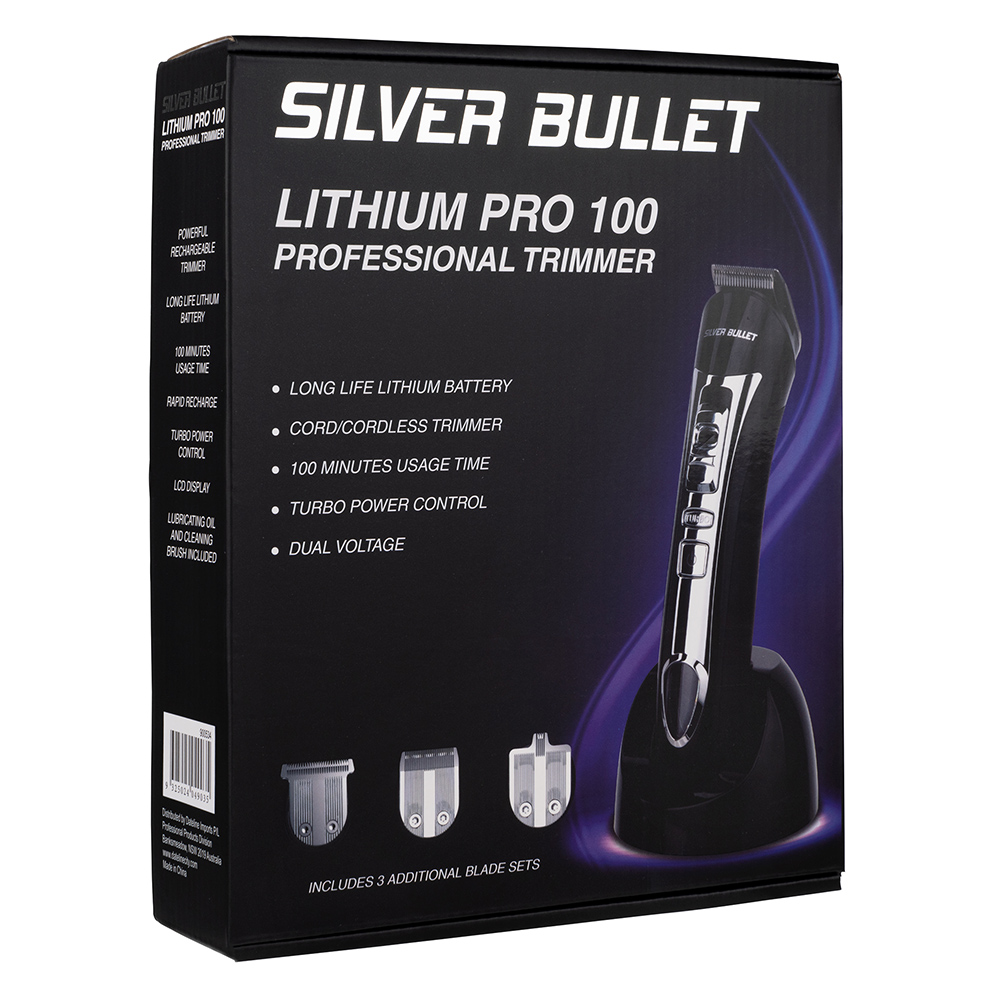 Silver Bullet Lithium Pro Hair Trimmer Features