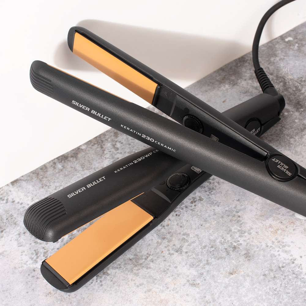 Silver Bullet Keratin 230 Ceramic Hair Straightener sizes