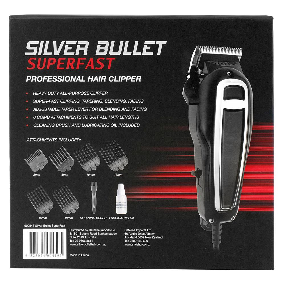 Silver Bullet SuperFast Hair Clipper packaging detail