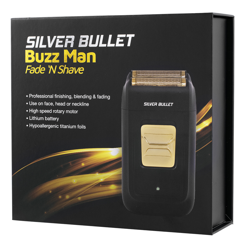 Silver Bullet Buzz Man Fade N Shave Shaver packaging