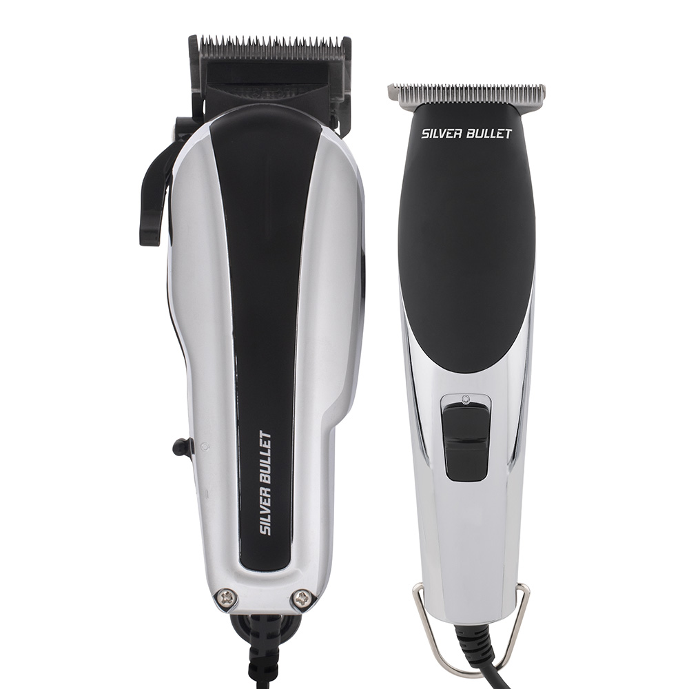 Silver Bullet Dynamic Duo Hair Trimmer and Clipper Set