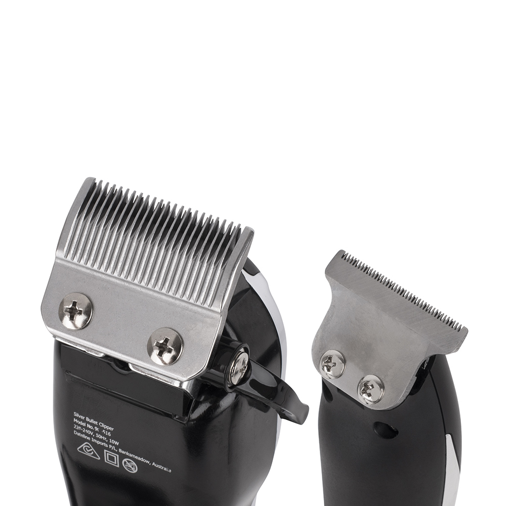 Silver Bullet Dynamic Duo Hair Trimmer and Clipper Set detail blade