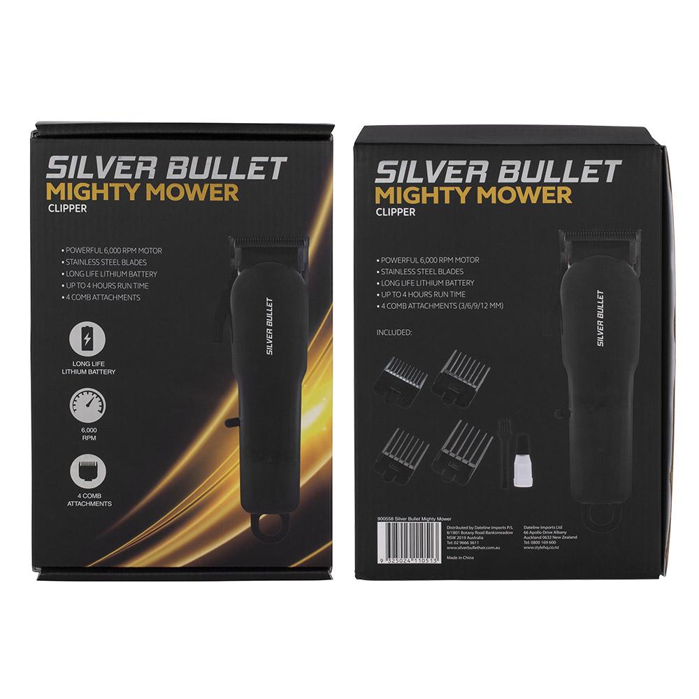 Silver Bullet Mighty Mower Hair Clipper packaging