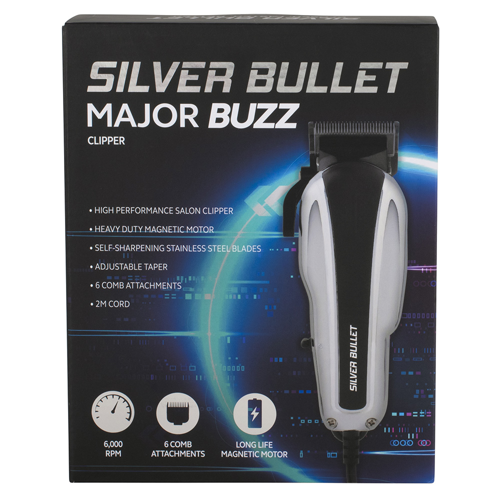 Silver Bullet Major Buzz Hair Clipper Packaging